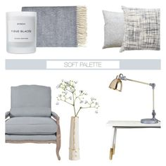 """""""Soft Palette for Spring '16"""" by rachaelselina ❤ liked on Polyvore featuring interior, interiors, interior design, home, home decor, interior decorating, By Nord, Orient Express Furniture, Byredo and Lene Bjerre"""