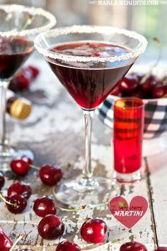 Very Cherry Martini - Cherry vodka (or regular vodka), tart cherry juice and cherry Martinelli's