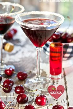 Very Cherry Martini | FamilyFreshCooking.com @Marla Landreth Meridith