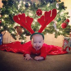 Baby's first Christmas pictures!