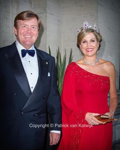 "Patrick van Katwijk on Instagram: ""King Willem-Alexander and Queen Máxima at the state banquet in Rome #kingwillemalexander #queenmaxima #gala #tiara #rome #banquet…"""