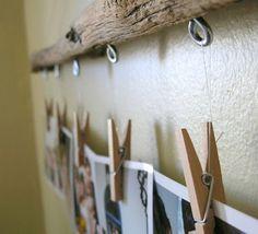 DIY Driftwood Photo Hanger Tutorial.