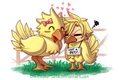Aww poor chocobo cloud!