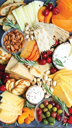 14 No-Cook Thanksgiving Appetizers That'll Keep Your Guests Happy Until Dinner 13 No-Cook Thanksgiving Appetizers That'll Keep Guests Happy Until Dinner: Cheese Board Food Platters, Cheese Platters, Cheese And Cracker Tray, Charcuterie And Cheese Board, Cheese Boards, Cheese Board Display, Charcuterie Display, Slate Cheese Board, Catering Display