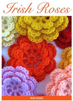 For Amber... she wants crocheted flower decorations in her room.  Maybe on a pillow?