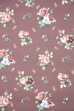vintage wallpaper for sale by the yard on Etsy from Hannah's Treasures