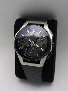 88ef8c0e7 Bulova Watch Men's Chronograph Curv Black Rubber Strap Watch 44 mm 98A161  NEW #Bulova #