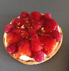 Jordbær hindbær tærte