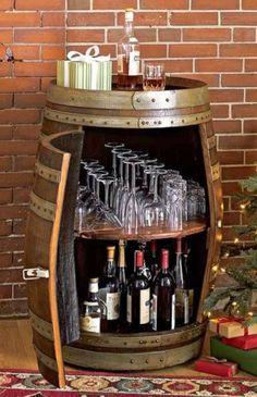 Great idea for a liquor cabinet!