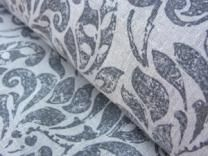 Linen Print Fabric Cocco Charcoal