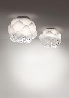 Discovering a modern LED lamp shaped like a cloud: Cloudy Lamp by Mathieu Lehanneur for Fabbian. Design Museum, Led Ceiling, Ceiling Fixtures, Light Fixtures, Modern Lighting, Lighting Design, Mathieu Lehanneur, Original Design, Energy Efficient Lighting