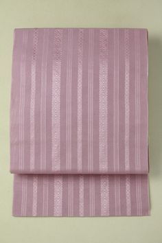 Purple nagoya obi / 梅鼠色 独鈷柄 全通化繊八寸名古屋帯   #Kimono #Japan  http://www.rakuten.co.jp/aiyama/