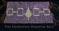 OUR BELT!!   The Aionwá:tha (Hiawatha) Wampum Belt symbolizes the founding of the Iroquois Confederacy.