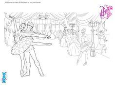 Coloriage Barbie : Barbie danseuse étoile à dessiner