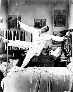 Gene Kelly in Pajamas Premium Art Print – Celebrity Vault Golden Age Of Hollywood, Classic Hollywood, Old Hollywood, Hollywood Actresses, Marlon Brando James Dean, Beverly Hills, Pittsburgh, The Big Sleep, An American In Paris