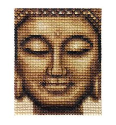 BRONZE-BUDDHA-Complete-counted-cross-stitch-kit-all-materials-needed