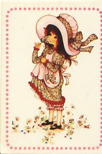 Autocollant Panini - Miss Petticoat - N° 50 Sarah Kay, Vintage Girls, Vintage Children, Mary May, Clown Party, Holly Hobbie, Naive Art, Digi Stamps, Cute Illustration