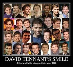 David Tennant's smile for you @Amanda Snelson Snelson Snelson Snelson Grace