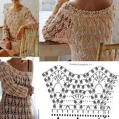 Fabulous Crochet a Little Black Crochet Dress Ideas. Georgeous Crochet a Little Black Crochet Dress Ideas. Crochet Bodycon Dresses, Black Crochet Dress, Crochet Cardigan, Crochet Motif Patterns, Crochet Designs, Crochet Stitches, Free Crochet, Knit Crochet, Crochet Clothes