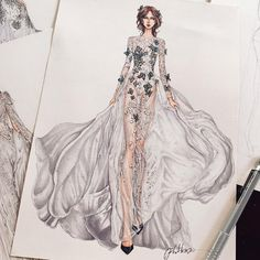 Fashion Illustration Ideas Butterfly wedding dress by Vo Cong Khanh Fashion Design Sketchbook, Fashion Design Drawings, Fashion Sketches, Drawing Fashion, Dress Illustration, Fashion Illustration Dresses, Fashion Illustrations, Fashion Art, Love Fashion