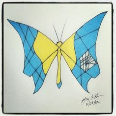 100 Butterflies in 100 Days, Day 39, Medium: Color Pencil