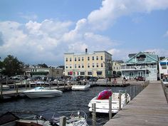 Town docks in Wolfeboro NH. The place to park, then walk, shop and explore the Oldest Summer Resort in America