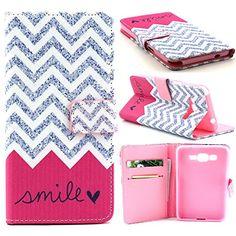 Grand Prime Case,G530 Case,[Wallet Case],XYX [Kickstand][Slim Fit] Premium Protective Case Wallet Leather Case for Samsung Galaxy Grand Prime G530 G5308 [Silver Wave Smile] XYX http://www.amazon.com/dp/B014RM9EW6/ref=cm_sw_r_pi_dp_K1nZwb0D9SQFT