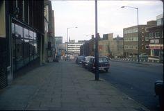 """Holloway Head towards Smallbrook Ringway. June 1968 Phyllis Nicklin © The University of Birmingham"" Birmingham City Centre, Yesterday And Today, World Famous, Street View, Journey, History, University, Twitter, Historia"