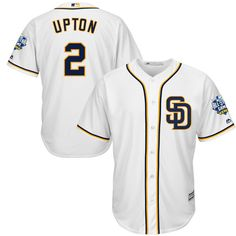 Padres Melvin Upton 2016 All-Star Patch Cool Base White Jersey