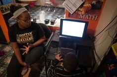 Shimira Williams at Tek Start, a home-based afterschool program on Pittsburgh's east end. / photo: Ben Filio