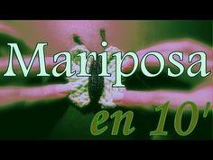 ▶ Como tejer una mariposa en 10 minutos (10 minutes butterfly) -tejido para zurdos- - YouTube