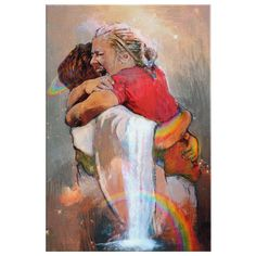 First Day in Heaven - Jesus Christ Hug - Welcome Hug Of God for First Day in Heaven - Framed Canvas Prints Canvas Wall Art Painting Printing Heaven Painting, Jesus Painting, Paintings Of Christ, Heaven Art, Framed Canvas Prints, Canvas Wall Art, Pictures Of Christ, Christian Artwork, I Believe In Angels