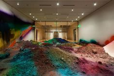 Colorful Mountains of Vibrantly Colored Soil by Katharina Grosse