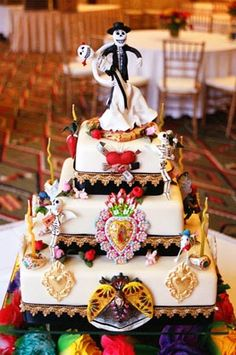 93 best Spectacular Dia de Los Muertos cakes images on Pinterest in ...