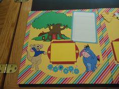 Disneyland album using cricut cartridges Elegant Edges and Pooh and Friends.