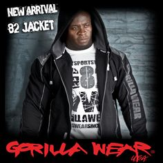 Gorilla Wear 82 Jacket at Bodybuilding Clothing UK Motorcycle Jacket, Bomber Jacket, Bodybuilding Clothing, Gym Wear, Nice Body, Cloths, Workout, Hoodies, Tees