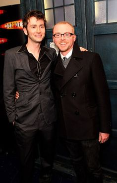 David Tennant & Simon Pegg. Possibly the best picture I've ever found ...ever.