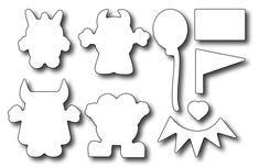 Frantic Stamper Precision Die - Monster Mash Outlines (works with FRA-CL-018),$13.99