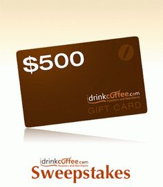 iDrinkCoffee.com Anniversary Sweepstakes via