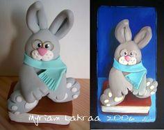 Mes figurines, mes top models ! Réalisation d'un tableau (peinture acrylique sur toile) d'après une de mes figurines en pâte polymère Fimo - Myriam Lakraa Créations (peinture animaux)