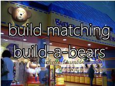 OMG!!!! Never eve thought about doing this! Or make one together and you keep it a week and then give it to him for a week! Just like the sweatshirt idea but with a bear!