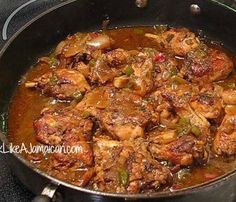 Jamaican Brown Stew Chicken Recipe | Cook Like a Jamaican  Fricasee