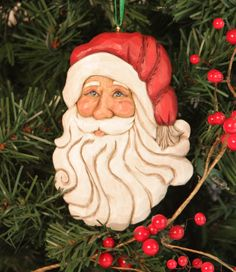 Hand carved Classy Claus hand made Christmas by WasatchWoodcarver How To Make Christmas Tree, Christmas Wood, Father Christmas, Wood Carving Designs, Wood Carving Patterns, Christmas Tree Decorations, Christmas Tree Ornaments, Santa Ornaments, Tree Tattoo Designs