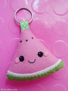 NEW! Happy Melon keychain   Now available in my Etsy and DaW…   Flickr