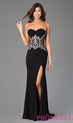 Xcite Strapless Sweetheart Prom Dress at PromGirl.com