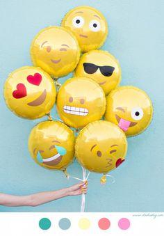 Ballons Smiley - DIY fête - anniversaire - tuto - tutoriel -