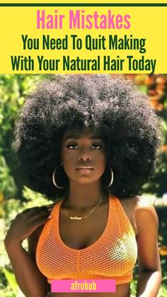 You should make sure you aren't doing any of THESE THINGS on your natural hair journey. #naturalhairregimen #naturalhairgrowth #naturalhairproducts #protectivestyles #naturalhairstyles #naturalhairgrowth #naturalhairmistakes #howtocarefornaturalhair