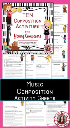 TEN Music Composition Tasks with Evaluation Sheets!   ♫ CLICK through to preview and read more or save for later!!  ♫