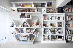 Awesome bookshelves by Hiroshi Nakamura