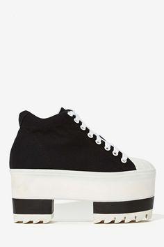 Jeffrey Campbell Routine Platform Sneaker Funky Shoes c4976dab3885e
